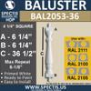 "BAL2053-36 Spectis Urethane Railing Baluster 4 1/4"" x 36 1/2"""