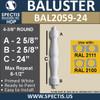 "BAL2059-24 Spectis Urethane Railing Baluster 4 3/8"" x 24"""