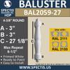 "BAL2059-27 Spectis Urethane Railing Baluster 4 3/8"" x 27 1/8"""
