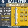 "BAL2065-24 Spectis Urethane Railing Baluster 4 1/2"" x 24 1/8"""