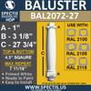 "BAL2072-27 Spectis Urethane Railing Baluster 4 1/2"" x 27 3/4"""