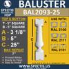 "BAL2093-25 Spectis Urethane Railing Baluster 5"" x 25"""