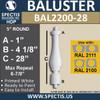 "BAL2200-28 Spectis Urethane Railing Baluster 5"" x 28"""