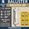 "BAL2211-20 Spectis Urethane Railing Baluster 4 1/4"" x 20"""