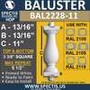 "BAL2228-11 Spectis Urethane Railing Baluster 3 3/8"" x 11"""