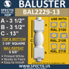 "BAL2229-13 Spectis Urethane Railing Baluster 3 3/8"" x 13"""