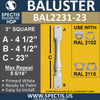 "BAL2231-23 Spectis Urethane Railing Baluster 3"" x 23"""