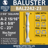"BAL2242-23 Spectis Urethane Railing Baluster 2 5/8"" x 23"""