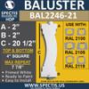"BAL2246-21 Spectis Urethane Railing Baluster 4"" x 20 1/2"""