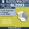 "BL2993 Eave Block or Bracket 4.5""W x 3.38""H x 5.13"" P"