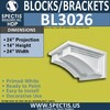 "BL3026 Eave Block or Bracket 24""W x 14""H x 24"" P"