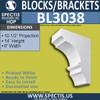 "BL3038 Eave Block or Bracket 6""W x 14""H x 10.5"" P"