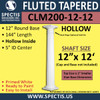 """CLM200-12-12 Fluted Tapered Column 12"""" x 144"""""""
