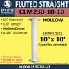 "CLM230-10-10 Fluted Straight Column 10"" x 120"""