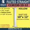 "CLM230-10-12 Fluted Straight Column 10"" x 144"""