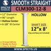 "CLM300-12-8 Smooth Straight Column 12"" x 96"""