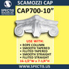 """CAP700-10 Scamozzi Cap 10 1/4"""" Hole x 16 1/2""""W x 7 1/4""""H"""