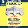 """CAP700-14 Scamozzi Cap 14 1/4"""" Hole x 23""""W x 10""""H"""