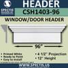 """CSH1403-96 Crosshead for Window/Door 4.5""""P x 12""""H x 96""""W"""