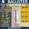 """BAL2000-16 Urethane Baluster or spindle  4 1/2""""W X 16""""H"""
