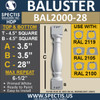 """BAL2000-28 Urethane Baluster or Spindle 4 1/2""""W X 28""""H"""