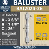 """BAL2024-26 Urethane Baluster or Spindle 3""""W X 26""""H"""