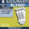 "BL2400 Corbel Block/Bracket 7 3/4""W x 12 3/8""H x 4 3/4""P"