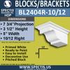 "BL2404R-10/12 Pitch Eave Bracket 5""W x 3.5""H x 7.75"" P"