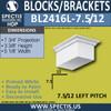 "BL2416L-7.5/12 Pitch Eave Block 5""W x 4""H x 8"" P"
