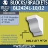 "BL2424L-10/12 Pitch Eave Block 4""W x 6""H x 6"" P"