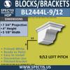 "BL2444L-9/12 Pitch Eave Block 5""W x 4""H x 8"" P"