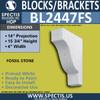 """BL2447FS Fossil Stone Block or Bracket 4""""W x 15.75""""H x 14"""" P"""
