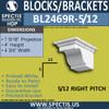 "BL2469R-5/12 Pitch Eave Bracket 4.75""W x 4""H x 7"" P"
