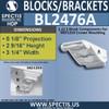 "BL2476A Eave Block or Bracket 3.25""W x 2.5""H x 5"" P"