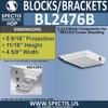 "BL2476B Eave Block or Bracket 4.5""W x 1""H x 5"" P"