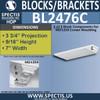 "BL2476C Eave Block or Bracket 7""W x 1""H x 3.75"" P"