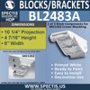 "BL2483A Eave Block or Bracket 8""W x 5""H x 10.25"" P"
