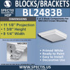 "BL2483B Eave Block or Bracket 9.25""W x 2""H x 10.25"" P"