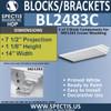 "BL2483C Eave Block or Bracket 14""W x 1.13""H x 7.5"" P"
