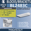 "BL2483C Eave Block or Bracket 14""W x 1.13""H x 7.5"" P"