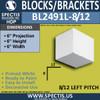 """BL2491L-8/12 Pitch Eave Block or Bracket 6""""W x 6""""H x 6"""" P"""