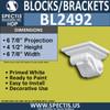 "BL2492 Eave Block or Bracket 7""W x 4.5""H x 7"" P"