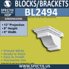 "BL2494 Eave Block or Bracket 9""W x 8""H x 14"" P"