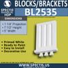 "BL2535 Eave Block or Bracket 5""W x 7.5""H x 1.25"" P"