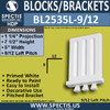 """BL2535L-9/12 Pitch Eave Bracket 5""""W x 7.5""""H x 1.25"""" P"""