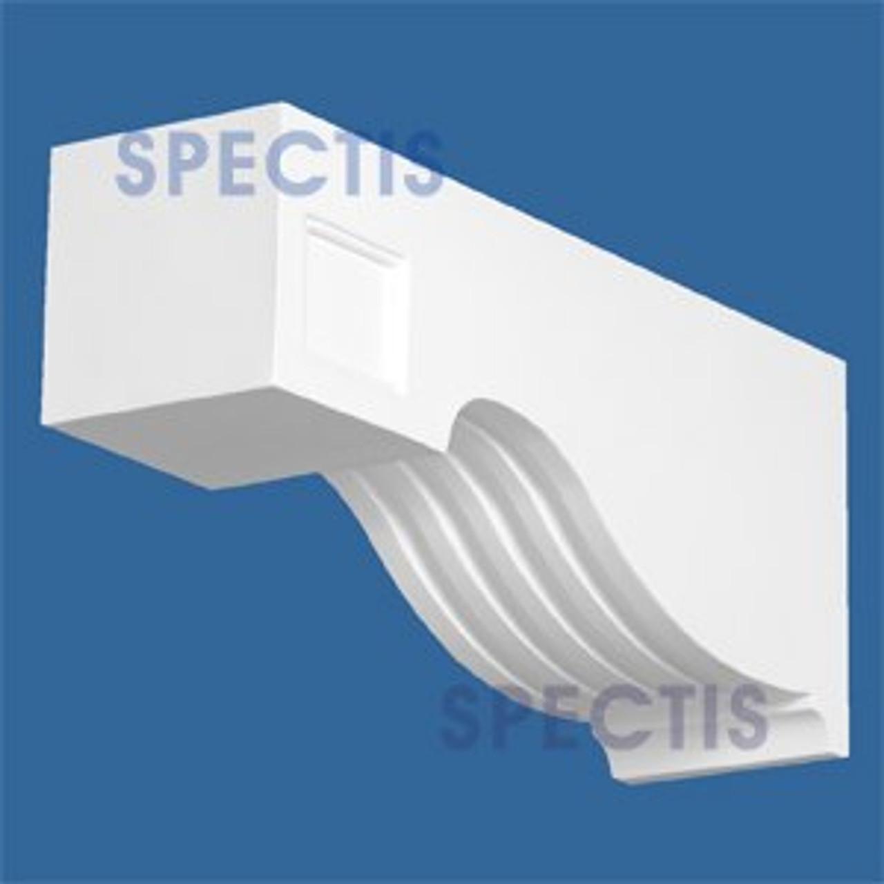 "BL2809 Corbel Block or Eave Bracket 3.5""W x 5.5""H x 13"" P"