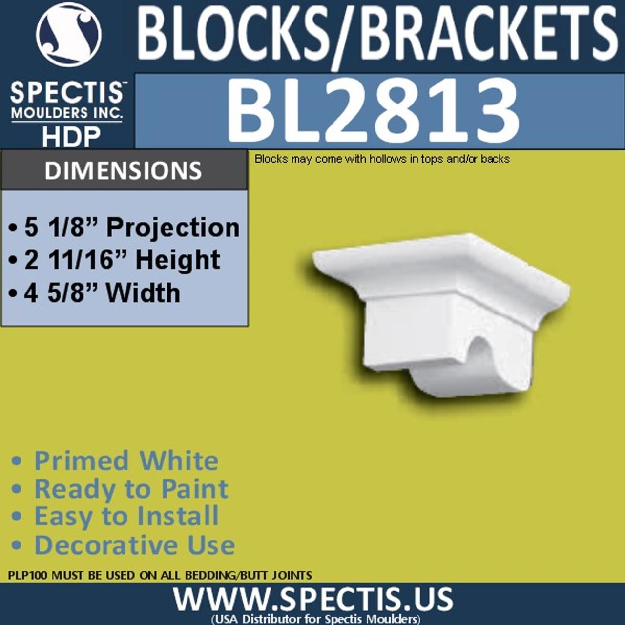 "BL2813 Eave Block or Bracket 4.5""W x 2.8""H x 5.1"" P"