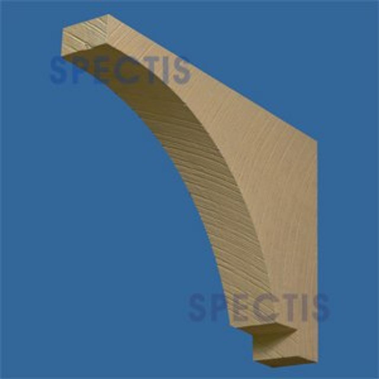 "BL2820RS Corbel Block or Eave Bracket 4""W x 18""H x 27"" P"