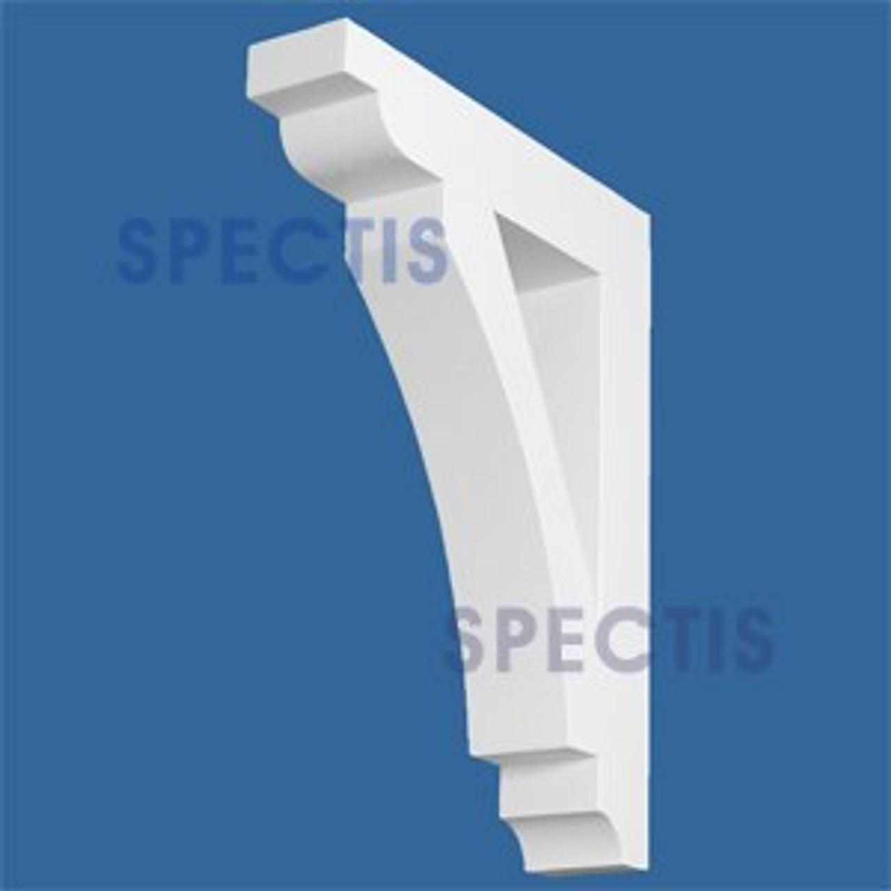 "BL2869 Corbel Block or Eave Bracket 4""W x 24""H x 18.5"" P"