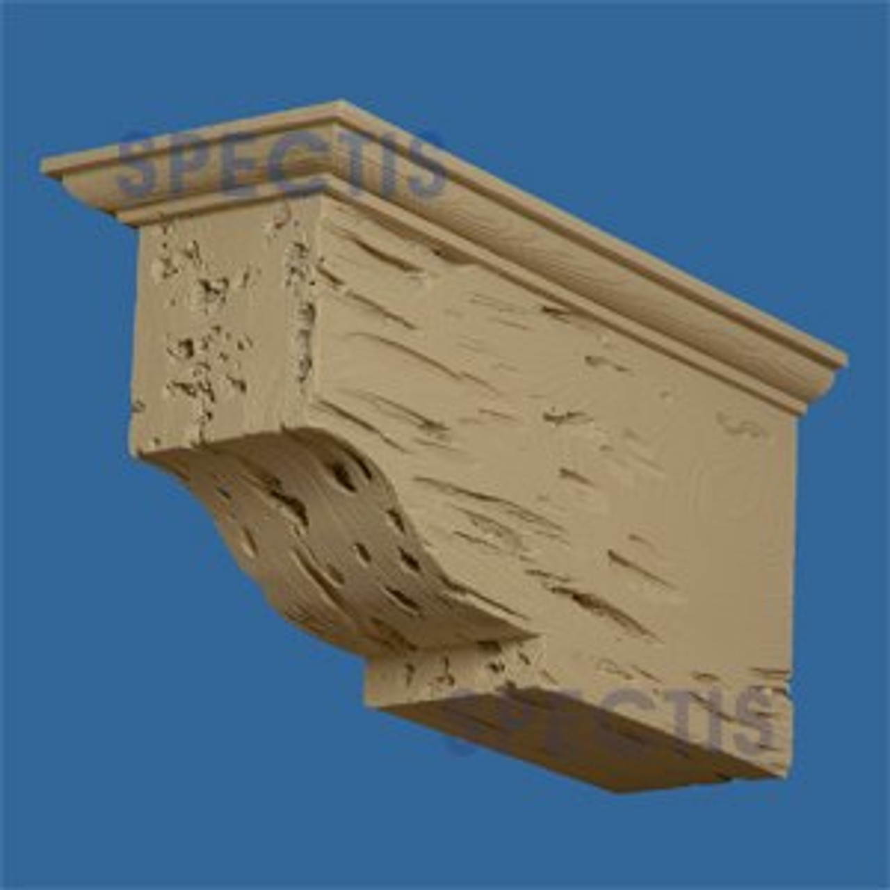 "BL2899PC Corbel Block or Eave Bracket 6.5""W x 8.5""H x 17.25"" P"